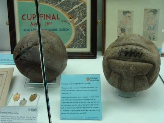 Balls from the 1930 World Cup final