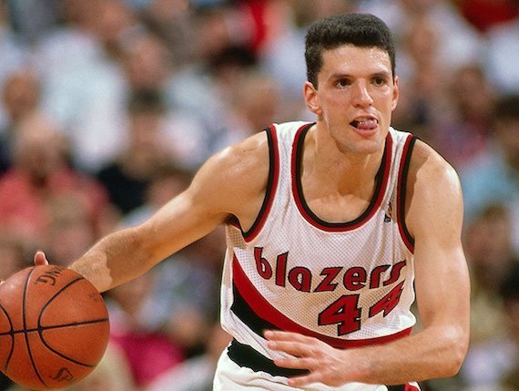Drazen Petrovic never got the chance to break loose in Portland. Andrew D. Bernstein NBA Getty Images1