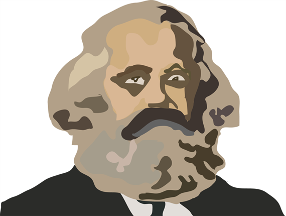 Karl Marx Free Hand Vector by K6C