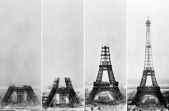 Stages of Eiffel Tower