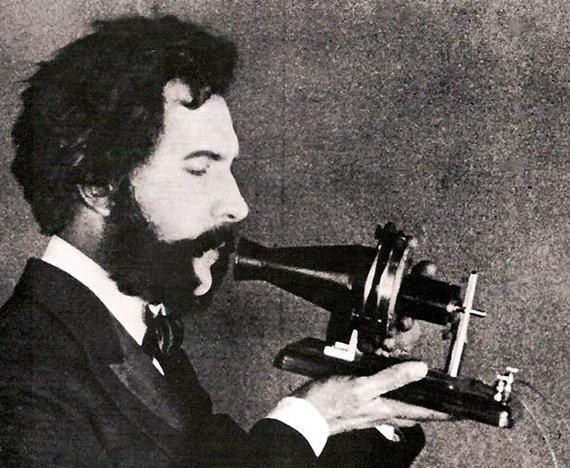 Actor portraying Alexander Graham Bell in an ATT promotional film 1926