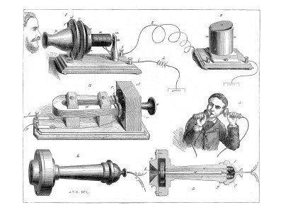 alexander graham bell first telephone diagram