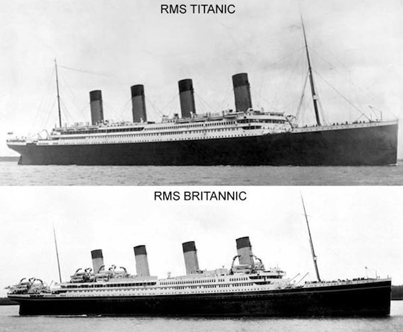 OLYMPIC class liners titanic britannic comparison life boats security emergency cruise ships white star line